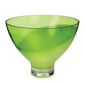 Waterford Crystal Evolution Peridot Whisper Footed Bowl 14'' by Waterford (Image #1)