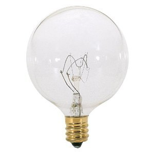 1/2 Clear Globe Lamp (S3822 25w G16-1/2 Globe - Candelabra Base - Clear (0382200))