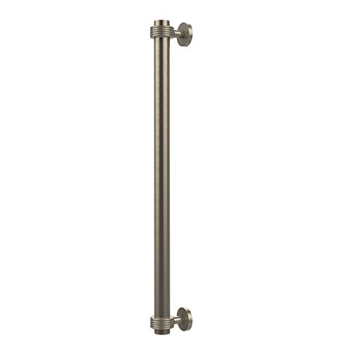 Allied Brass 402G-RP-PEW 18 Inch Refrigerator Pull with Groovy Accents Antique Pewter