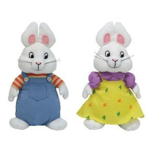 Max and Ruby Beanie Baby Bunnies, 6 Inch Size, by Ty Inc., Baby & Kids Zone