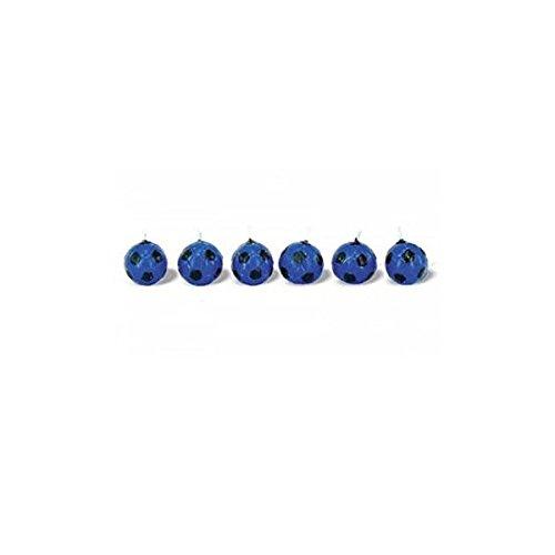 Juego de 6 velas Fútbol Balón negro azul Inter: Amazon.es: Hogar