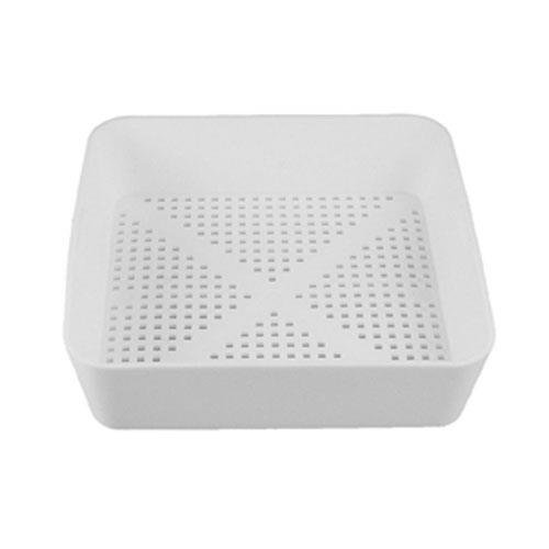 "8 1/2"" Square Floor Sink Commercial Drain Cover Strainer Basket with 3/16"" Holes for Restaurant Use - This is the industry standard"