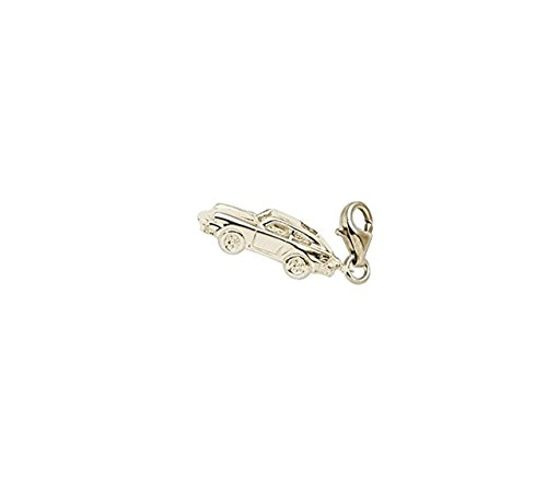 Gold Plated Sport Car Charm With Lobster Claw Clasp, Charms for Bracelets and Necklaces