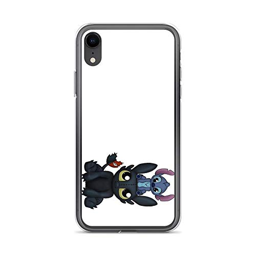 iPhone XR Case Clear Anti-Scratch Can I Sit Here, Toothless iPhone case Cover Phone Cases for iPhone XR, Crystal Clear -