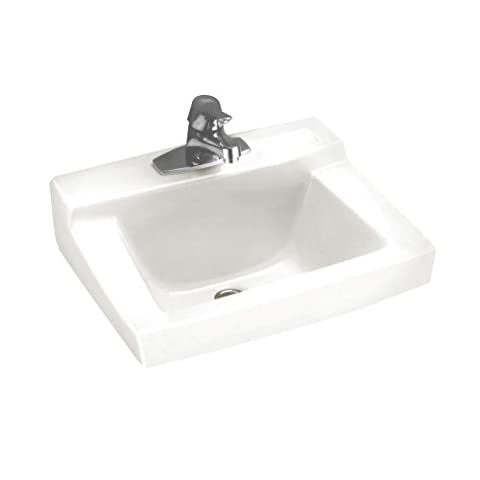 American Standard 0321.975.020 Declyn 4-Inch Center Holes Wall-Hung Lavatory Less Overflow, White - American Standard Console