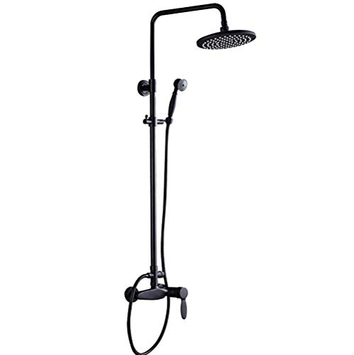 (Shower Set Thermostatic with Overhead Rainfall Shower and Handheld Shower Shower System for Bathroom)