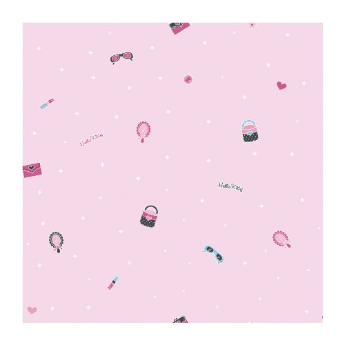 York Wallcoverings BT2781SMP Stars/Mirror/Hearts 8 X 10 Wallpaper Memo Sample, Bright White/Cotton Candy Pink/Hot Pink/Black Onyx