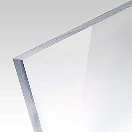 ACRYLGLAS 6 mm Farblos glasklar--versch Maße--ZUSCHNITT--Bastelglas--Hobbyglas