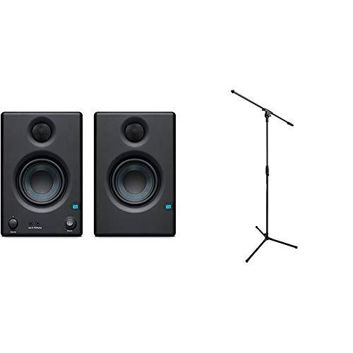 PRESONUS ERIS E3.5-3.5 니어 필드 스튜디오 모니터(쌍)(E3.5)및 아마존 기본 삼각대 붐 마이크 스탠드