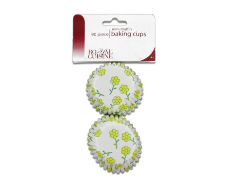 Miniature baking cups with flower design Pack of 24 Home Kitchen Furniture Decor