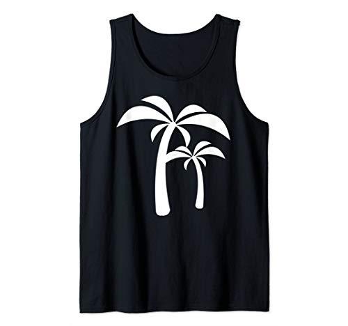 White Palm Tree Tank Top