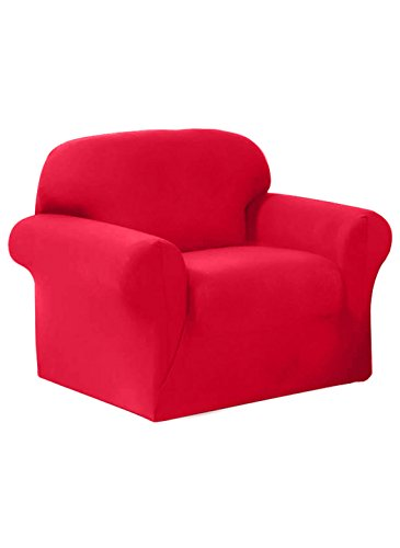 Madison Stretch Jersey Red Chair Slipcover, Solid by Madison