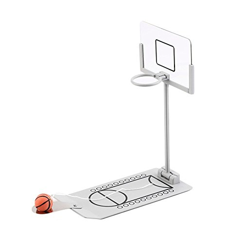 Fengirl Creative Funny Desktop Miniature Basketball Game Toy, Fun Sports Novelty Toy Gag Gift Idea (Gray)