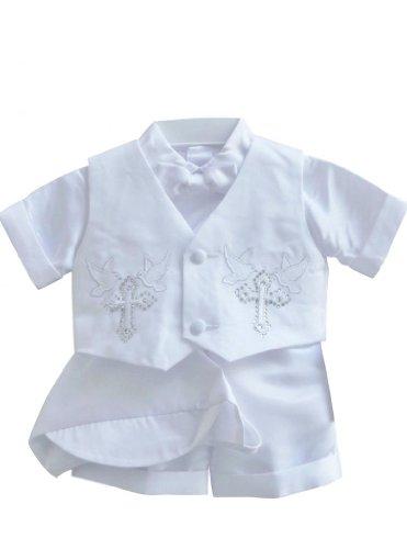 Classykidzshop White Boy Baptism Outfit B4 (Baby-ExtraLarge)