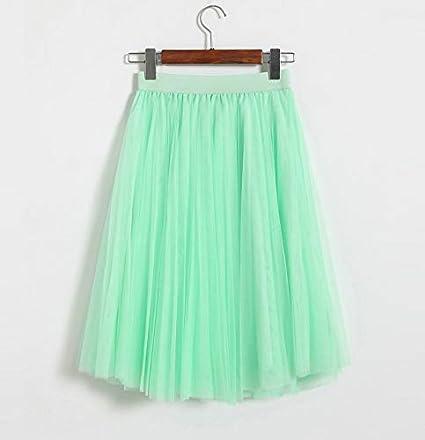 XGDLYQ Faldas de Tul para Mujer Negro Gris Blanco Adulto Falda de ...