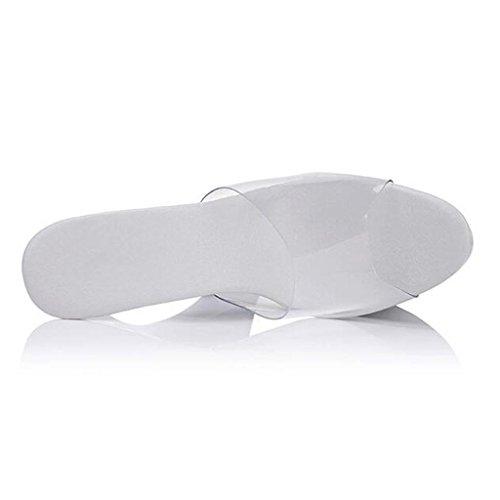 Flop Impermeabile Ballo Di Con Talloni Trasparente Spessa Vibrazione Piattaforma Sandali Femminile Alti Massima Un Fondo f7pIZq