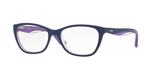 Vogue VO2961 Eyeglass Frames 2492-53 - Topaz Blue/Lilac/Opal - For Men Vogue Eyewear