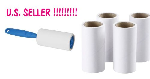 IKEA BASTIS LINT PET HAIR ROLLER REMOVAL 60 SHEET + 4 REPLACEMENT ROLLS
