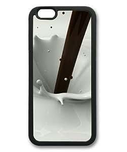 iphone 5c Case, Chocolate Milk Splash Slim Fit Case for iphone 5c Soft TPU Material Black
