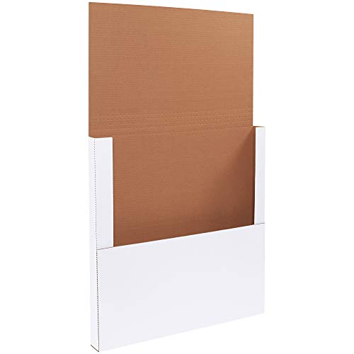 - Boxes Fast BFM24242BF Corrugated Cardboard Easy-Fold Mailers, 24 x 24 x 2 Inches, Fold Over Mailers, Adjustable Die-Cut Shipping Boxes, Multi-Depth, Large White Mailing Boxes (Pack of 20)
