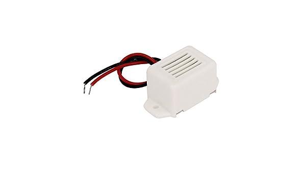 Amazon.com: eDealMax DC 3V miniatura efecto electrónico Tono Sirena de alarma zumbador Bip Blanca: Electronics