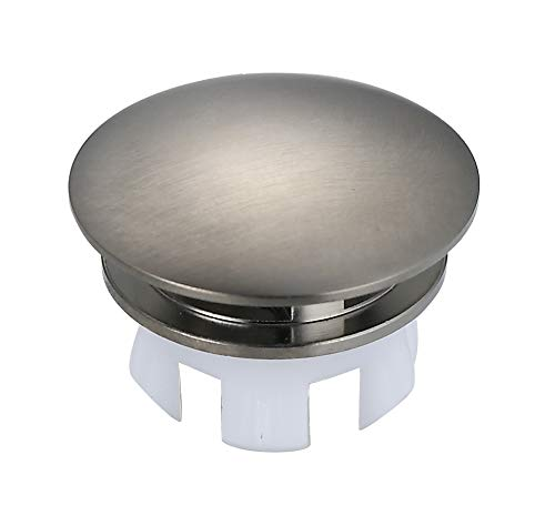 Polymer Sink Hole Covers - Bathroom Ceramic Sink Brass Overflow Cap Brushed Nickel