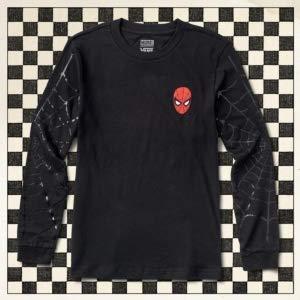 Vans Women's X Marvel Spidey Webs Boyfriend L/S Tee in Black (Large)