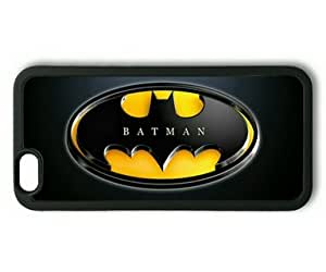 iPhone 6 Case,Batman Logo Design on Black TPU Rubber Shell Black Cover Case for iPhone 6(4.7Inch) by runtopwell