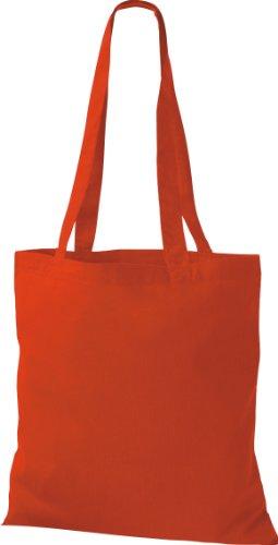 Stoffbeutel Baumwolltasche Beutel Shopper Umhängetasche viele Farbe bright red