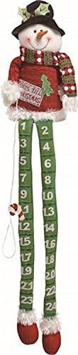 [해외]TII Plush Long Leg Snowman Shelf Sitter Advent Calendar / TII Plush Long Leg Snowman Shelf Sitter Advent Calendar