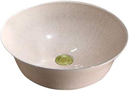 DS- バスルームの洗面台、セラミックカウンタ流域ボウル形状(タップ無し)レトロ技術バニティ単一流域、42X42X13cm 洗面ボール && (Size : 42X42X13cm)