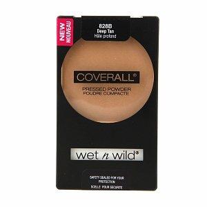 Wet n Wild CoverAll Pressed Powder, Deep Tan 0.26 oz (7.5 g) by AB