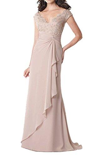 VaniaDress Women V Neck Ruffles Long Evening Dress Prom Gowns V234LF Champagne US20W from VaniaDress