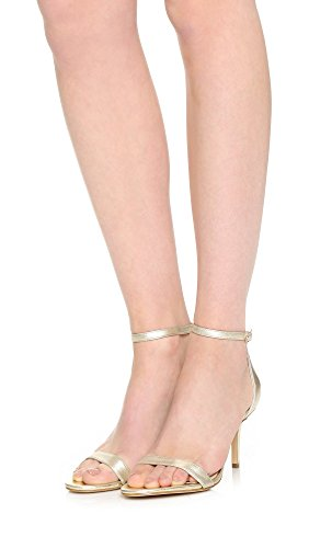 Jute Women''s toe Edelman Heels Patti Open Sam Leather Metallic pnYPnS
