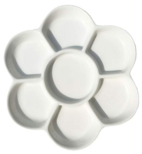 Easyou Porcelain Ceramic Palette Mixing Tray (Flower Mixing Palette 5.6