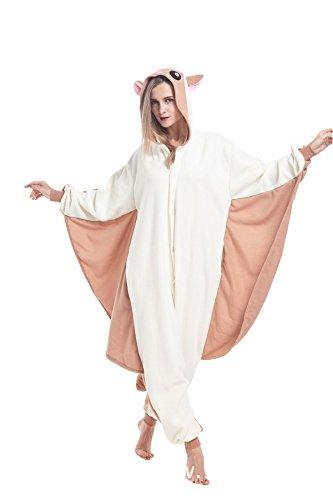Sqlszt Flying Sqirral Adult Animal Onesie Cosplay Costume Pajamas for Women Men S -