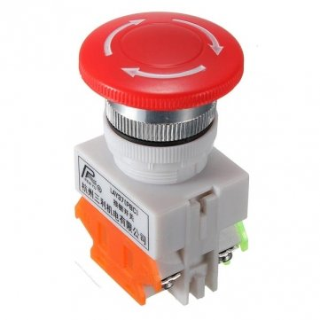 Souked N/O N/C Emergency Stop Switch Push Button Mushroom 4 Screw Terminals MF SKUSKD0401219