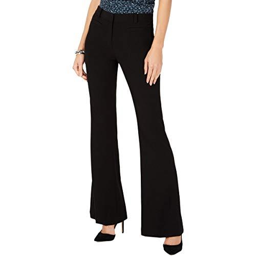Michael Michael Kors Womens Flare Pleated Skinny Pants Black 4