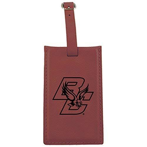 Boston College – Leatherette Luggage tag-burgundy B013VZKS0M