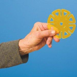 Constructa Interlocking Plastic Disc Toy Building Set, 50 Pieces