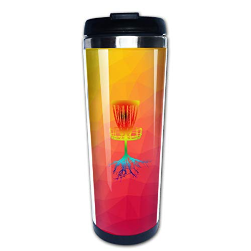 (Disc Golf Tree Roots PortableCoffee Cup Travel Mug 13.5 Oz)