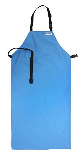 National Safety Apparel A02CRC24X48 Nylon Taslan and PTFE Waterproof Cryogenic Safety Bib Apron, 48'' Length x 24'' Width, Blue by National Safety Apparel Inc