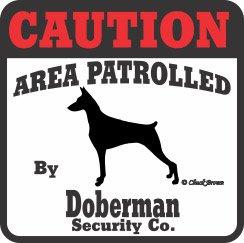 - Doberman Pinscher Bumper Sticker Caution
