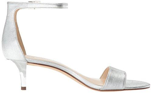 Nove West Ladies Leisa Sandali Con Cinturino Grigio (argento)