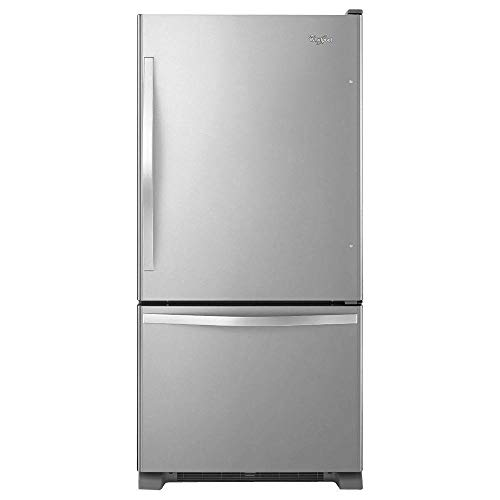 Price comparison product image Whirlpool WRB322DMBM 21.9 Cu. Ft. Stainless Steel Bottom Freezer Refrigerator - Energy Star