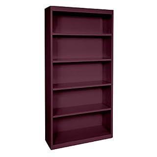 Sandusky Lee BA40361872-03 Elite Series Welded Bookcase, Burgundy