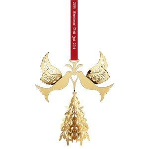 (Georg Jensen 3410214 Christmas Ornament 2014, Fir Tree and Doves)