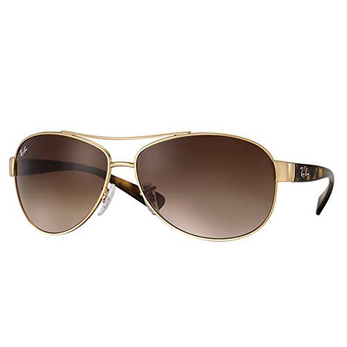 Ray-Ban Sunglasses - RB3386 / Frame: Gold Lens: Brown Gradient (63mm) (Sunglasses Ray Ban Rb3386)