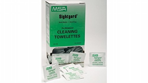 MSA Sightgard Lens Cleaning Towelettes, 7 1/2 in X 5 1/4 in