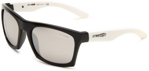 Arnette Dibs AN4169-07 Iridium Square Sunglasses,Gloss Black Frame/Chrome Lens,One (Orange Chrome Lens)